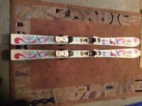 Salomon T3 Boots Size 4 & Volkl Chica Skis 130
