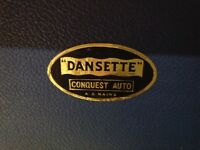 Original Vintage Dansett Record Player. Plays 16, 33, 45 and 78.