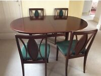 Dining Table and 4 Chairs G-Plan