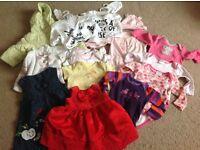 Baby girl clothes bundles 0-3 3-6