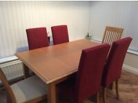 Marks and Spencers Lichfield Dining Room Table and 6 chairs