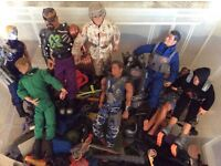 Large box of Action Man figures and accessories