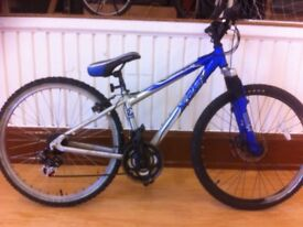 "Boys Mountainbike - fully refurbished 14"" Apollo FS26: 18-speed, full suspension, 26"" wheels"
