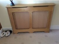 Wood effect radiator cover