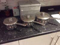 Set of saucepans