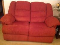 Recliner settee & 2 Chairs