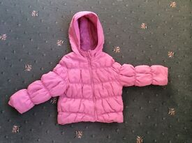 Thick winter coat and waterproof rain coat, 2-3 years, great condition