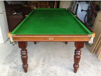 Snooker table 8'x 4' slate bed