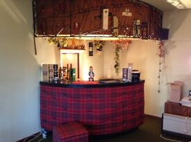 Retro bar and accessories. Suitable for home or business use.