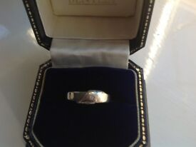 Ladies white gold 9ct ring with three diamonds size N £95 call 07812980350