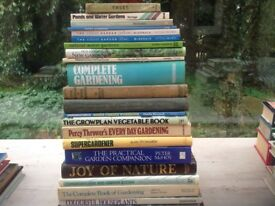 Gardening books, House books and Cat books for sale.