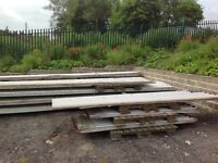 BOX PROFILE ROOFING SHEETS. USED BUY BUT EXCELLENT CONDITION. Ridges and flashings also available