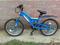 Bike, Blue TRAX, suit approx 7-10yr old Great condition.