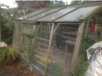 Alton timber framed greenhouse.