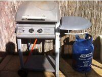 Two burner gas BBQ plus Gas bottle