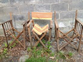 DIRECTORS CHAIRS X 3 (need some tlc)