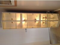 White Wood/glass Display Unit with Integral Lighting