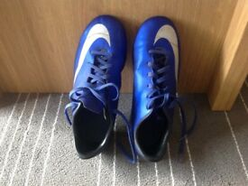 Nike blue football shoes with stud , size 3
