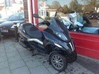 PIAGGIO MP3 125cc 3 WHEELED SCOOTER PERFECT COMMUTER SCOOTER MOT JANUARY 2019