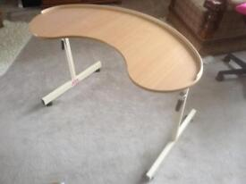 Kidney shape over chair table