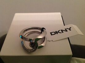 DKNY stainless steel ring, new with tag, bag and box - ideal for christmas