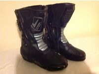 FRANK THOMAS SEB095 LADIES VENUS MOTORCYCLE BOOTS ARMOURED SIZE 7 EXCELLENT CONDITION £45ono