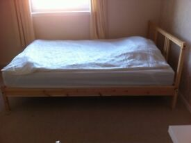 Double bed + mattress in perfect condition