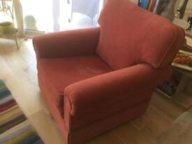 Peter Guild Armchair - velvet upholstery