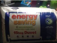15 tog single energy saving duvet brand new and sealed