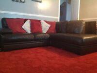 Right arm corner sofa (brown)