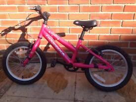 Ridgeback melody pink bike 14 inch wherl