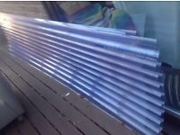 5 x Plastic Roofing Sheets for Garden Projects