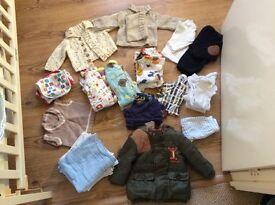 Baby boy clothes bundle newborn-3 months, plus 3 items 3-6 months (see list)