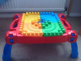 Mega Blocks table, good condition