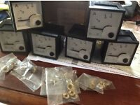 6x small panel amp meters 0---40 Amps