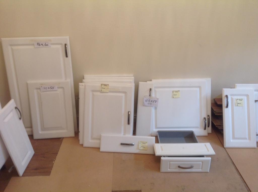 Gloss white kitchen doors