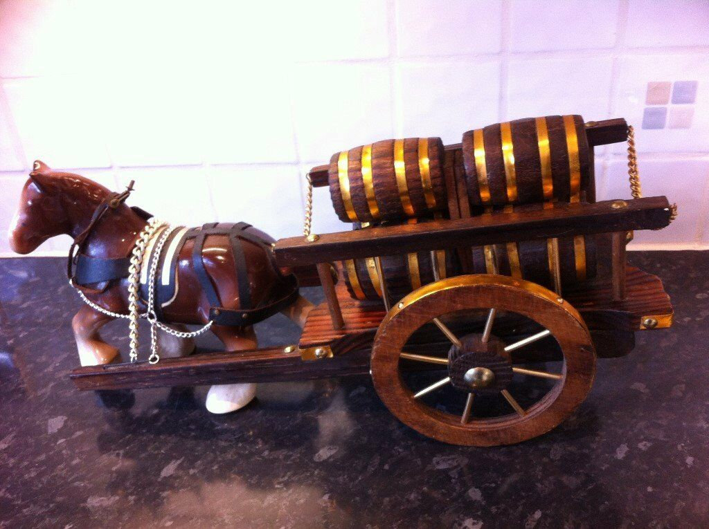 Shire Horse Amp Beer Barrel Cart Ornament Vintage In