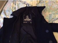 Super dry 3/4 length jacket great condition size L but my sons slim medium and it's perfect on him