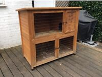 Rabbit/guinea pig double storey hutch