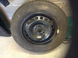 Volkswagon Touran steel spare wheel