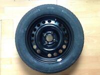 """Vauxhall Meriva 2003 - 2010 15"""" Brand New Full Steel Spare Wheel and Jack Set"""