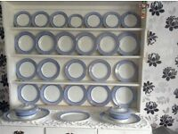 Vintage booths blue and white dinner service
