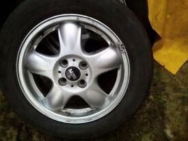 BMW mini alloy wheels