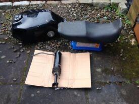 Honda petrol tank,seat ,and monoshock