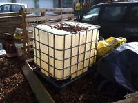 1000 Litre IBC plastic bowser site storage tank diesel tank