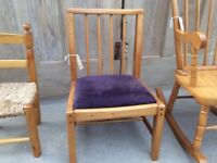Child's chair with padded lift out seat
