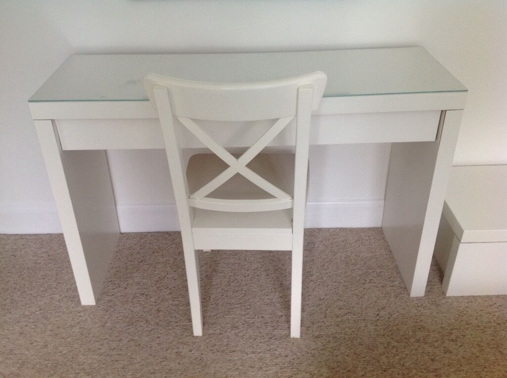 Ikea Malm Dressing Table Chair And Storage Chest