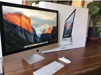 "27"" iMac 3.3GHz Quad Core 5K Retina- 2TB Fusion Drive- 16 Gig Ram- Warranty 2017"
