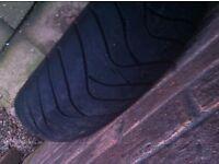 rear bike tyre 160/60/17zr used battlax