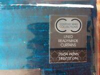 Silk curtains x2 very cheap!